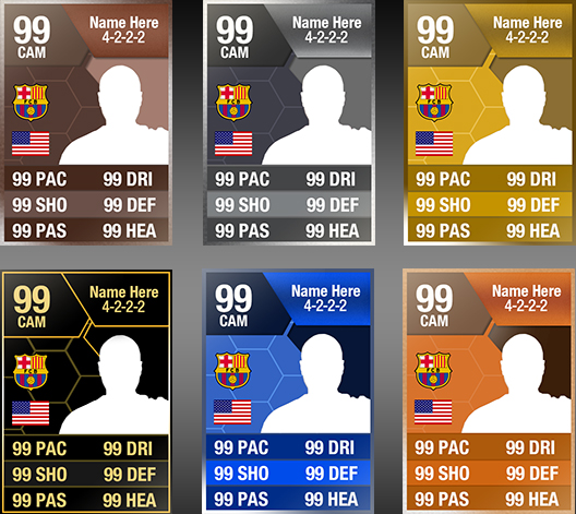 FIFA 15 Ultimate Team Cards